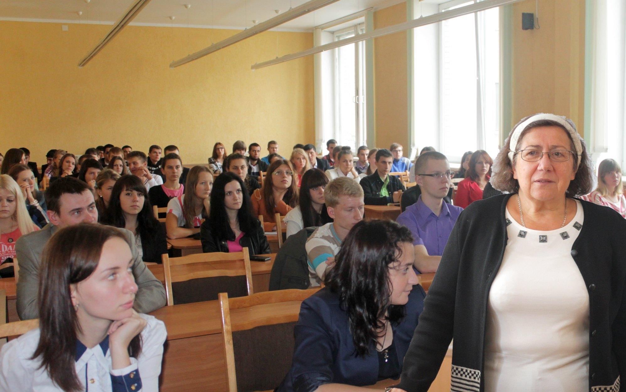 Встреча с Е.П.Кузнецовой студентов 1 курса матфака БГПУ